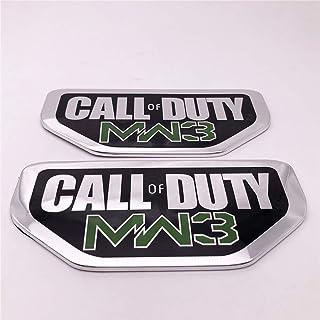 FT&C 2PCS Call of Duty MW3 Modern Warfare 3 Car Trunk Exterior Badge Emblem Sticker Decal 68148003AA