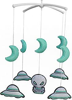belle lit jouet cadeau parfait rotation pour bébé [UFO] lit bébé cloche mobiles
