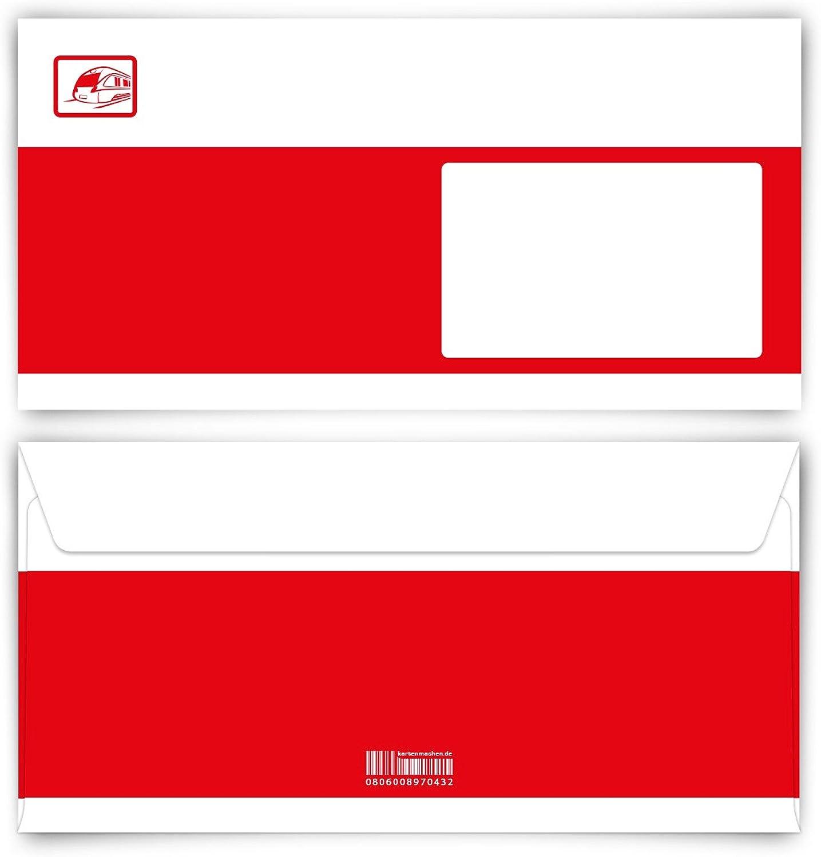 Briefumschläge (100 Stück) Stück) Stück) DIN Lang - Bahnkarte Ticket B01LX4MJTS | Vorzüglich  6fd0e0