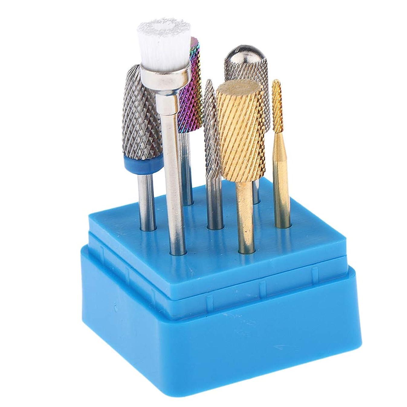 モノグラフ留まるカートCUTICATE マニキュア 美容釘の大広間 タングステン鋼 鉄用 磨くブラシ 釘の穴あけ工具 7個
