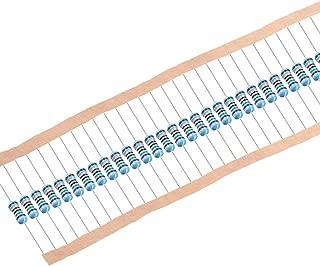 uxcell 1/2W 75K Ohm Metal Film Resistors 0.5W 1% Tolerances 5 Color Bands 100 Pcs
