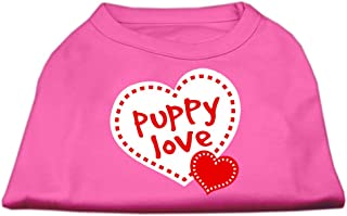 Mirage Pet Products 16-Inch Puppy Love Screen Print Shirt for Pets, X-Large, Bright Pink