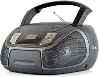 LLOYTRON Portable Stereo CD Radio with Bluetooth/USB and AUX Input/Headphone Socket/FM Radio with 30 Pre-sets/CD Player/Bo...