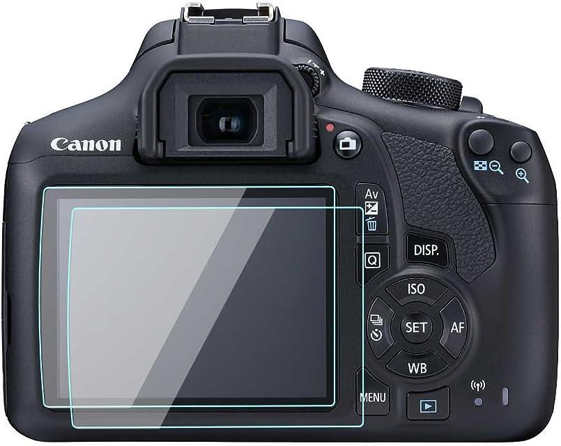 Canon EOS Rebel T6/1300d óptico LCD protector de pantalla de 03mm 9H vidrio templado película perfecta Funda impermeable para Canon EOS Rebel T6/1300d cámara Digital (2unidades)