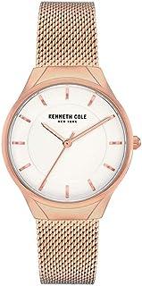 Kenneth Cole Women's Mesh Bracelet KC50962001 Rose-Gold Stainless-Steel Quartz Dress Watch