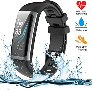 Fitness Tracker, Activity Tracker Watch with Heart Rate Monitor, Color Screen Smart Bracelet with Sleep Monitor, IP67 Waterproof Smart Bracelet for Android and iOS