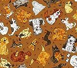 Oasis Fabrics Hunde-Stoffe, Cartoon, 0,5 m, 100% Baumwolle