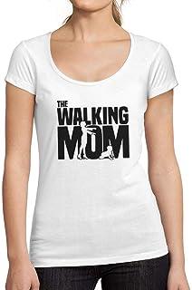 Ultrabasic - Camiseta de Mujer Walking Mom Camisa Impresión Blusa Regalo