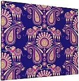 JIANSHAN Lienzo decorativo para pared, diseño de elefantes y flores, diseño de amapola roja, decoración moderna para el hogar, 40,6 x 50,8 cm