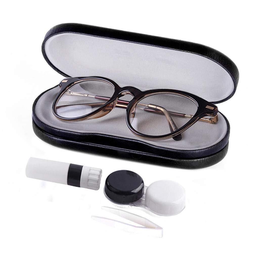 Estuche para lentes de contacto, 2 en 1, estuche para gafas y lentes de contacto, innovación, caja de almacenamiento de anteojos de doble cara, portátil para viajes, casa, multicolor: Amazon.es: Bricolaje y