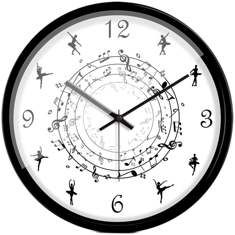 diseñador en linea XYENJOY Reloj de Parojo rojoondo, Reloj de Cuarzo Cuarzo Cuarzo de la decoración de la Parojo de la Cara de la Parojo del Reloj del Papel Revestido Creativo del Metal de la Moda, los 35  35cm,negro  Esperando por ti