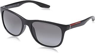 Prada Sport Sunglasses - PS03OS / Frame: Black Demi Shiny Lens: Grey Gradient