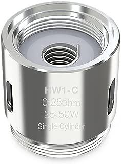 [イーリーフ] HW1-C シングルシリンダー0.25ohmコイル 5個入りセット 電子タバコ アトマイザー
