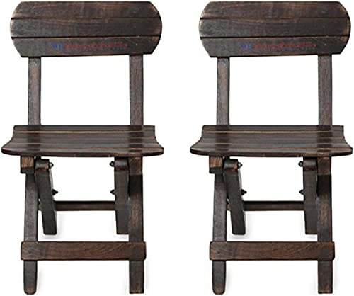Smart Wood Mart Beautiful Wooden Good Antique Folding Chair for Kids for Home Decoration Living Room Furniture Home and Kitchen Organizer Set of 2
