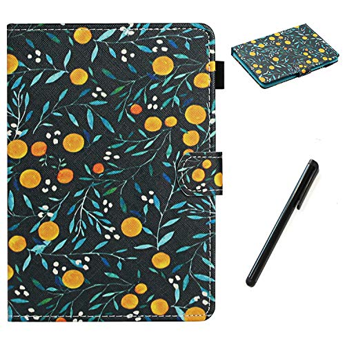 HereMore Apple iPad Mini 5 / Mini 4 / Mini 3 / Mini 2 / Mini 1 Case 7.9 Inch, PU Leather Case Shockproof Stand Cover with Card Slot and Pen Loop Protective Shell with Auto Sleep Wake, Flower