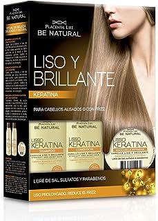 Be Natural Kit con champú acondicionador y mascarilla para cabellos alisados o con frizz.