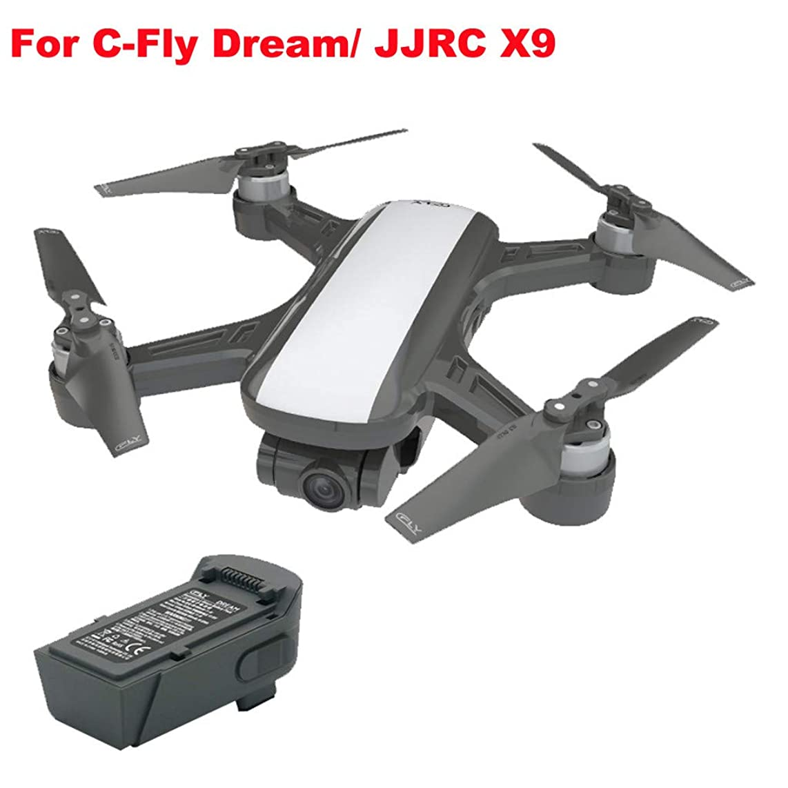 Ktyssp Battery for JJR/C X9/ C-Fly 11.4V 1000mAh Dream RC Quadcopter Drone Spare Parts