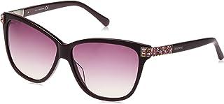 Swarovski Butterfly Sunglasses for Women - Purple Lens,SK0137-81Z 59-140 mm