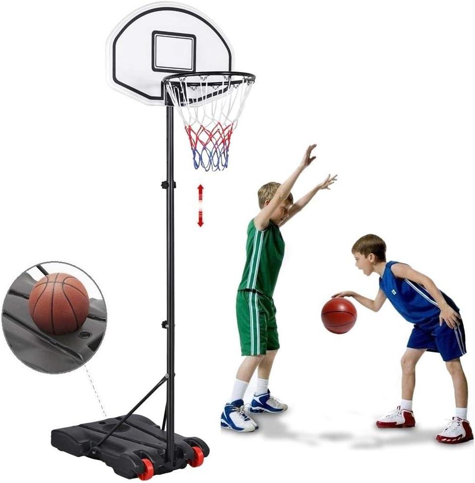 Topeakmart 6.4-8.2ft Height Adjustable Hoop System Ba Fashion Trust Basketball