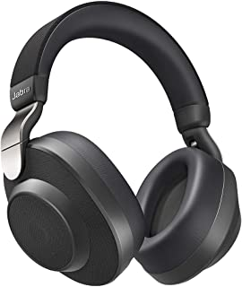 Jabra Elite 85h Wireless Bluetooth Over-Ear Noise Cancelling Headphones with ANC and SmartSound Technology & One-Touch Amazon Alexa with 36 Hours Battery, Titanium Black