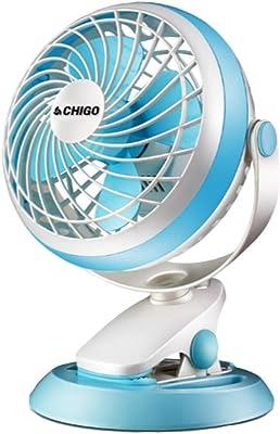 ZHIC Mini Fan, Student Dormitory Bedside Fan, Office, Portable, Cute Desktop/Clip Fan,Blue Refreshing one Summer (Color : Blue, Size : 2914cm)