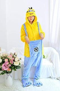Onesie World Unisex Animal Pyjamas Cosplay Minion Adult Onesie Nightwear Halloween Carnival Novelty