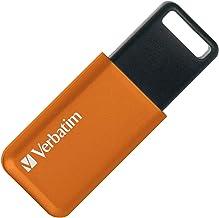 Verbatim バーベイタム USBメモリ 32GB USB3.,1(Gen1) スライド式 ストラップホール付き オレンジ USBSLM32GDV1