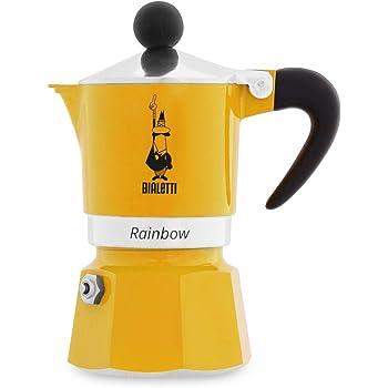 Bialetti Rainbow Cafetera Italiana Espresso, 1 taza, Aluminio, Amarillo: Amazon.es: Hogar