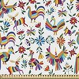 ABAKUHAUS Mexicano Tela por Metro, La İnspiración Natural Arte, Decorativa para Tapicería y Textiles del Hogar, 1M (148x100cm), Multicolor