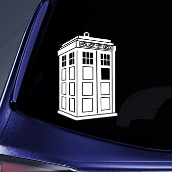 car Tool Box Truck Keen Doctor Who Tardis Car Window Vinyl Decal Sticker| Blue| 5.5 Tall |for Window Smooth Surface|KCD655 Keen Commodities virtually Any Hard
