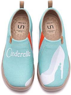 UIN Chaussure Femme Confort Souple ete Mocassins Femme Tennis Toile Originales Basket Peinte Travail Plates Sneakers Basse...