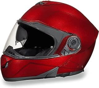 Daytona Helmets Motorcycle Modular Full Face Helmet Glide- Black Cherry 100% DOT Approved