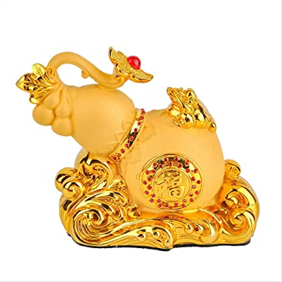 Zgptx Figurines Ornaments Figurines Decor Spot Creative Sand Gold Small Gourd Car Interior Supplies Car Ornaments Lucky Resin Crafts Home Kitchen