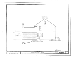 Historic Pictoric Structural Drawing HABS Mass,10-NANT,25- (Sheet 7 of 10) - Swain-Mitchell House, 1 Vestal Street, Nantucket, Nantucket County, MA 55in x 44in
