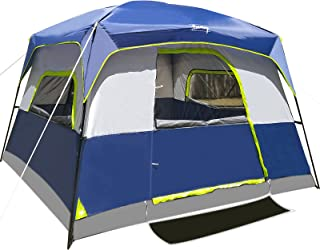 6-Person Tent/Instant for Camping Waterproof Windproof...