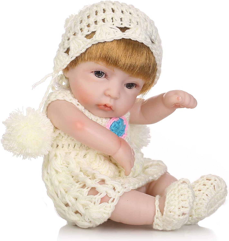 CHENG Reborn Baby Dolls 10InchToddler Doll Realistic Silicone Fashion Doll Gift Set