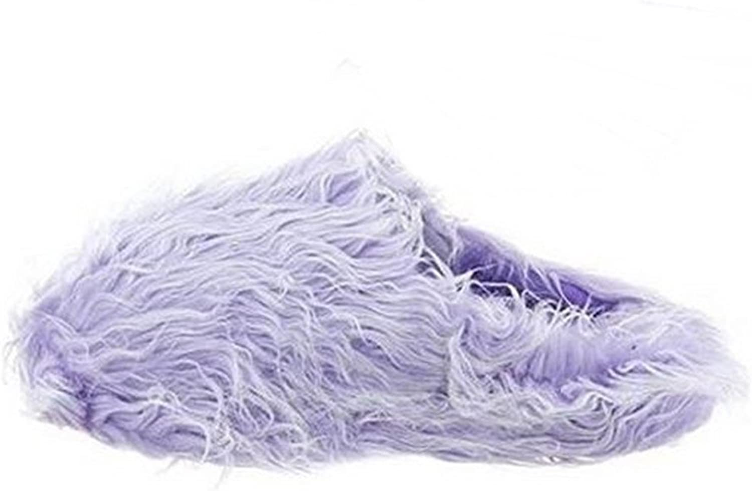 Easy Womens Fluffy Comfy Faux Fur Slippers House shoes