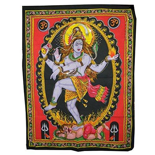 indischerbasar.de Stampa su Cotone Nataraja 105x78 cm con Ricami Lavorati a Mano arazzi Accessori casa