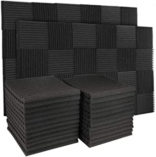 50 Pack Acoustic Panels Soundproof Studio Foam for Walls Sound Absorbing Panels Sound Insulation Panels Wedge for Home Stu...