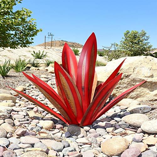 IJKLMNOP Tequila Sculpture Statue Decor Art Garden Lawn Floor Decoration Ornament Metal Plants Shape Sculpture Home Decor for Indoor Outdoor Lawns Gardens Backyards