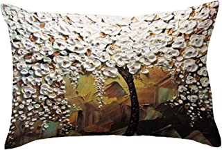 iZHH Rectangle Pillow Cover Cushion Case Toss Pillowcase Hidden Zipper Closure