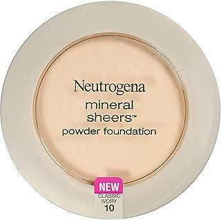 Neutrogena Mineral Sheers Powder Foundation, Classic Ivory [10], 0.34 oz (Pack of 2)