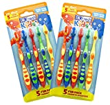 Dr. Fresh Kids' Extra Soft Toothbrushes - Pack of 2