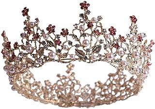 YNYA Tiare Sposa Corona Corona Barocca Rotonda Corona Principessa Compleanno Accessori per Gioielli da Sposa Regali di Nozze