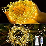 Guirnalda Luces Navidad Cadena de Luz Petardo USB 4M/200 LED Guirnalda Luz Impermeable Iluminación Interior y Exterior con 8 Modos de Luz para Cumpleaños, Fiesta, Boda, Dormitorio, Jardín, Bar