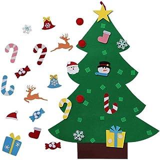 comprar comparacion Shanke DIY Árbol de Navidad Artificial de Fieltro con Adornos 26 pcs para Niños Desmontables año Pared de Puerta Decoració...