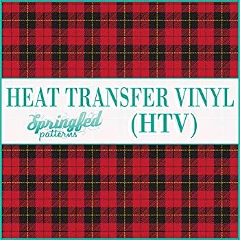 RED Plaid Pattern #1 HTV Heat Transfer Vinyl 12 x14  Flannel Pattern for Shirts