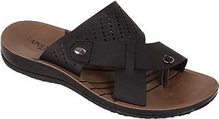 BATA Men Formal Black Slip On Sandal Chappal
