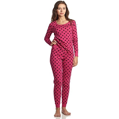 Leveret Women s Pajamas Fitted Printed Owl 2 Piece Pjs Set 100% Cotton Sleep  Pants Sleepwear 53f190a89