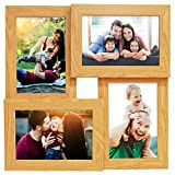 Story@Home Wall Hanging Photo Frame Collage Wooden Photo Frame for 4 Photos- Beige